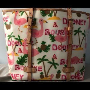 Dooney & Bourke Flamingo East West Shopper Tote